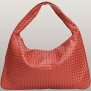 La Scalla Woven Hobo Red