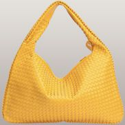 La Scalla Woven Hobo Yellow