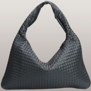 La Scalla Woven Hobo Dark blue