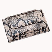 Elizabeth Python Leather Clutch Wallet Beige