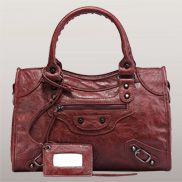 The Route 66 Faux Leather Medium Bag Red