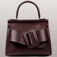 Alena Buckle Belt Top Handle Bag Burgundy