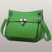 Birgit Calf Leather Shoulder Bag Green
