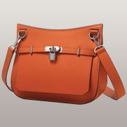 Birgit Calf Leather Shoulder Bag Orange