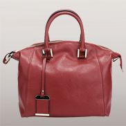 Colleen Leather Shoulder Bag Burgundy