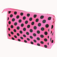 Trendy Cosmetic Pouch Polka Dots Pink