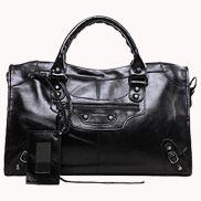 The Route 66 Trendy Cowhide Leather Bag Black