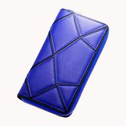 Gemma Patchwork Leather Wallet Blue