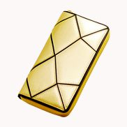 Gemma Patchwork Leather Wallet Gold