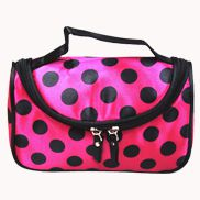 Soho Cosmetic Bag Polka Dot Hot Pink