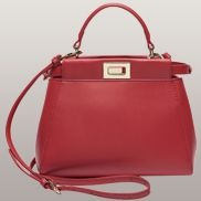 Carrie Smooth Leather Bag Red