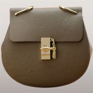 Joy Drew Leather shoulder Mini Bag Grey