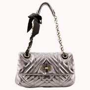 SUPERMODEL PICK LEATHER FLAP BAG SLIVER