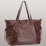 Never Full Leather Tote Burgundy