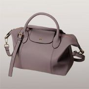 Rachele Leather Medium Bag Purple