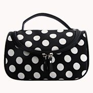 Soho Cosmetic Bag Polka Dot Black