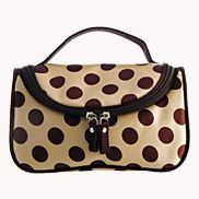 Soho Cosmetic Bag Polka Dot Beige