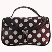 Soho Cosmetic Bag Polka Dot Brown