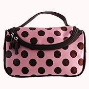 Soho Cosmetic Bag Polka Dot Light Pink