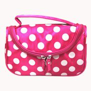 Soho Cosmetic Bag Polka Dot Pink