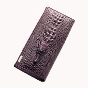 The Alligator Wallet Croc Leather Purple