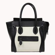 Vanessa Medium Tote In Leather Black And White