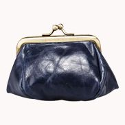 Vintage Frame Coin Purse Dark Blue