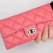 Adele Continental Wallet Lambskin Leather Watermelon Red