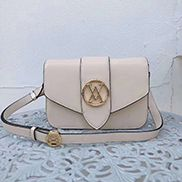 Louisa Leather Shoulder Bag White