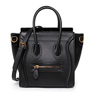 Vanessa Mini Tote In Smooth Leather Black