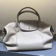 Rachele Leather Medium Bag Blue Cream
