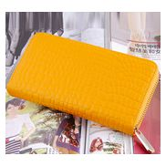 DAKOTA PURSE WALLET CROC EFFECT LEATHER YELLOW