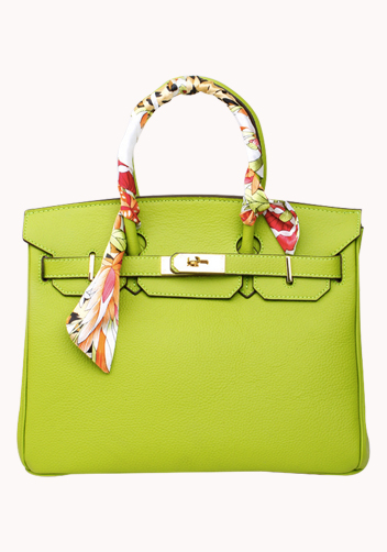 The Essential Jane Bag With Scarf Leather Lemon