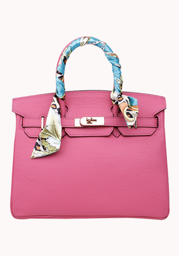 The Essential Jane Bag With Scarf Leather Pink