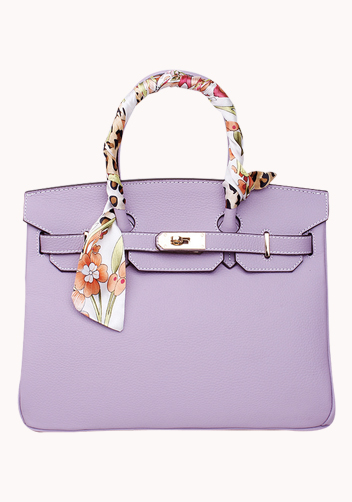The Essential Jane Bag With Scarf Leather Purple