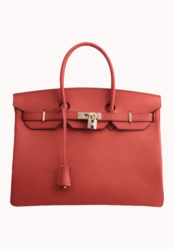 The Essential Jane Bag With Scarf Leather Red