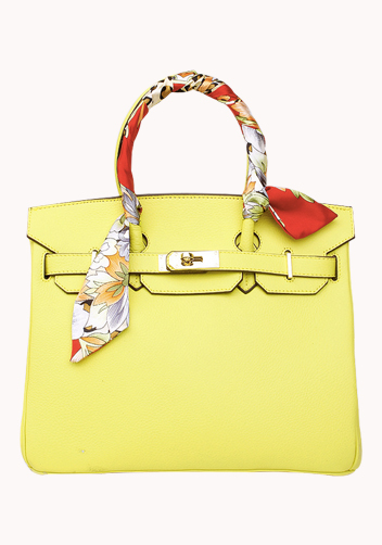 The Essential Jane Bag With Scarf Leather Yellow