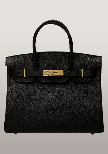 The Essential Jane Bag Leather Black Gold Hardware