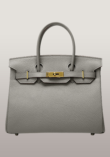 The Essential Jane Bag Leather Grey Gold Hardware