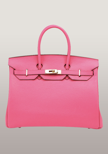 The Essential Jane Bag Leather Hot Pink Gold Hardware
