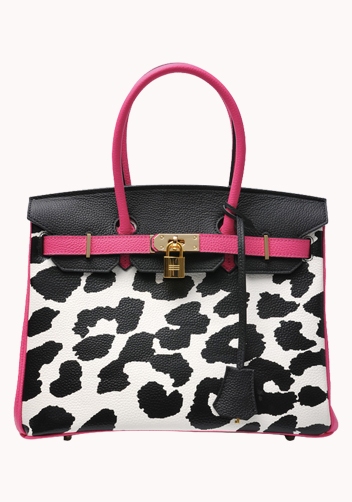 The Essential Jane Bag With Leopard Hot Pink